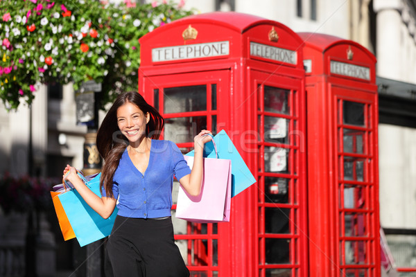 England London shopping woman shopper with bags Stock photo © Maridav