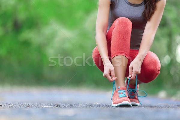 ストックフォト: ランニングシューズ · クローズアップ · 女性 · 靴 · 女性 · スポーツ