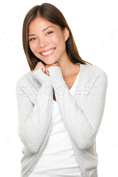 Mixed race Chinese Asian / Caucasian young woman Stock photo © Maridav