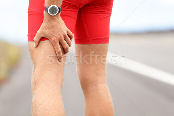 Hamstring sprain or cramps Stock photo © Maridav