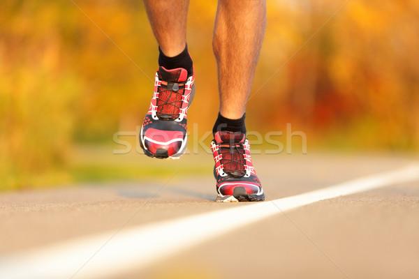 Atleta zapatillas primer plano hombre corredor correr Foto stock © Maridav