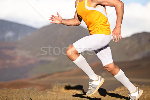 Running sport fitness man - closeup Stock photo © Maridav