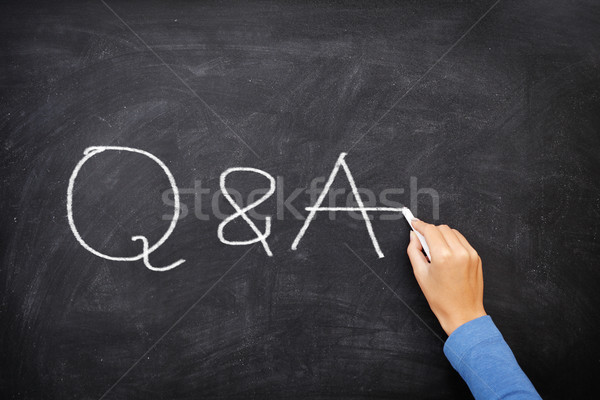 Questions and Answers - Q and A concept blackboard Stock photo © Maridav