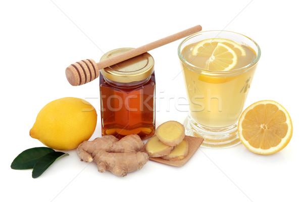 Soğuk grip çare tedavi yardım içmek Stok fotoğraf © marilyna