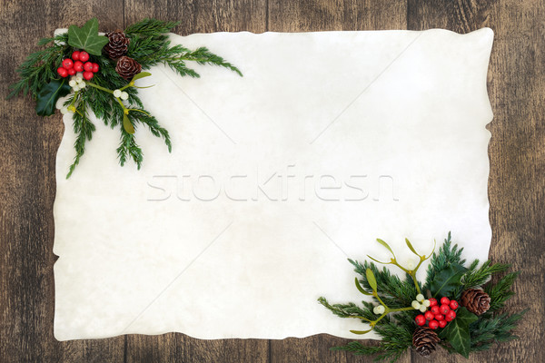 Old Fashioned Christmas Border  Stock photo © marilyna