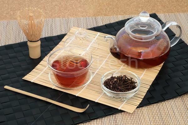 Zdrowych japoński gałązka herbaty szkła Zdjęcia stock © marilyna