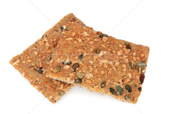 Stockfoto: Gezonde · biscuits · pompoen · sesam · geïsoleerd · witte