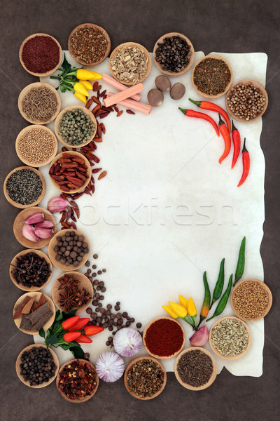 Herb and Spice Border Stock photo © marilyna