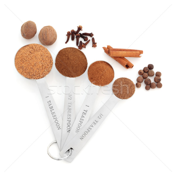 Spice in Measuring Spoons Stock photo © marilyna