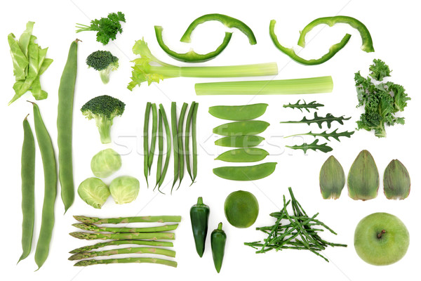 Green Vegetable Food Selection Stock photo © marilyna