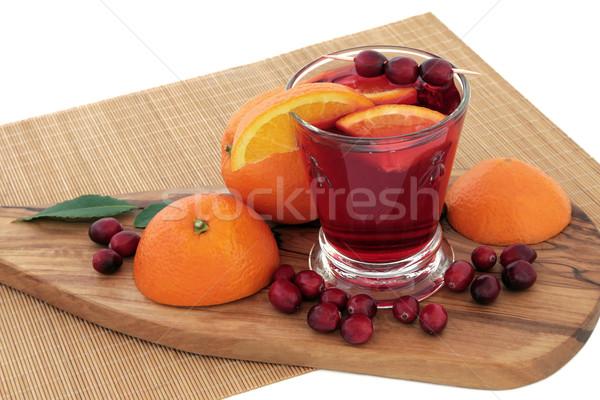 オレンジ クランベリー 健康 ドリンク ジュース 新鮮果物 ストックフォト © marilyna