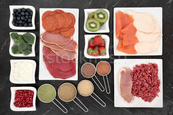 Alimentaire viande poissons produits laitiers Photo stock © marilyna