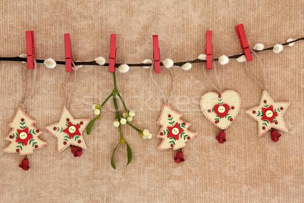Natal decorações estrela árvore coração Foto stock © marilyna