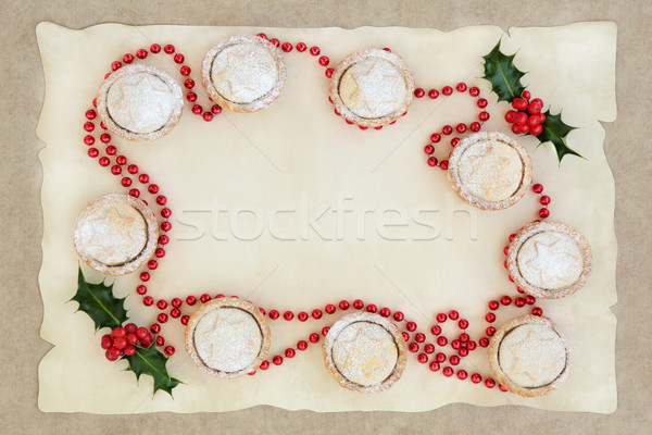 Christmas Mince Pie Border Stock photo © marilyna