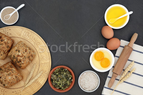 Pumpkin Seed Rolls and Ingredients Stock photo © marilyna
