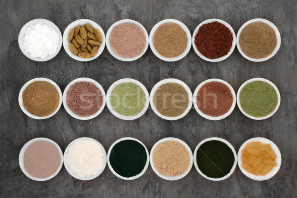 Bols marbre alimentaire Photo stock © marilyna