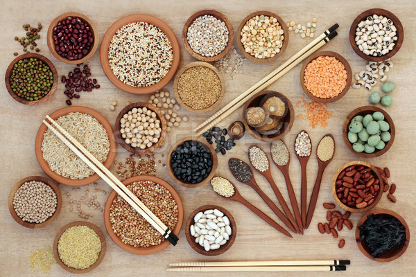 Macrobiotic Healthy Food Sampler Stock photo © marilyna