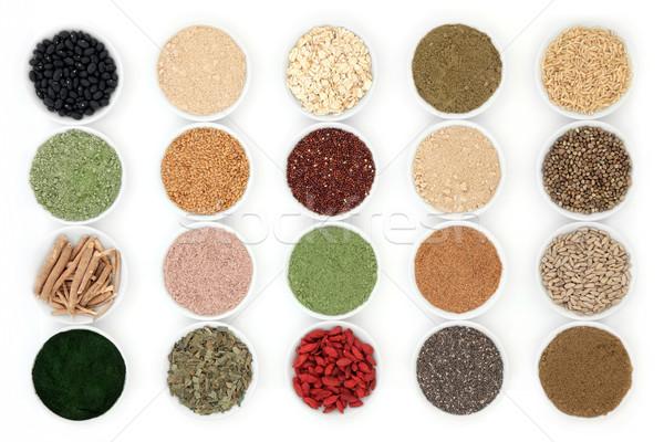Stockfoto: Gezondheid · voedsel · porselein · gerechten · witte