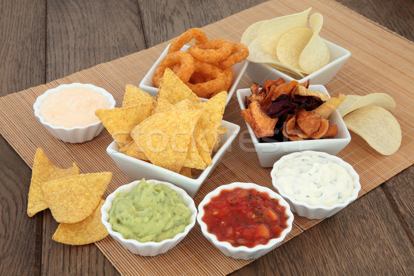 Crisps and Dips Stock photo © marilyna