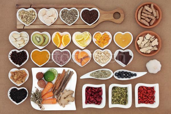 Gıda otlar büyük sağlık soğuk Stok fotoğraf © marilyna