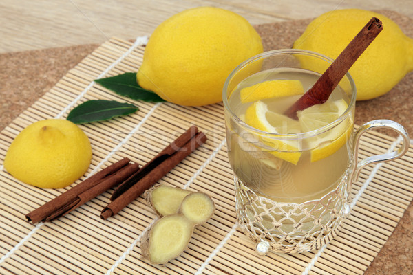 Honey Lemon and Spice Drink Stock photo © marilyna