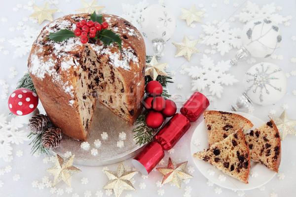 Chocolate Pantettone Christmas Cake Stock photo © marilyna