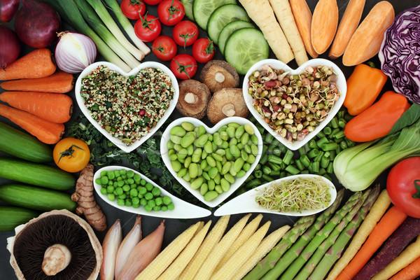 健康食 新鮮な野菜 緩い 中心 ボウル ストックフォト © marilyna