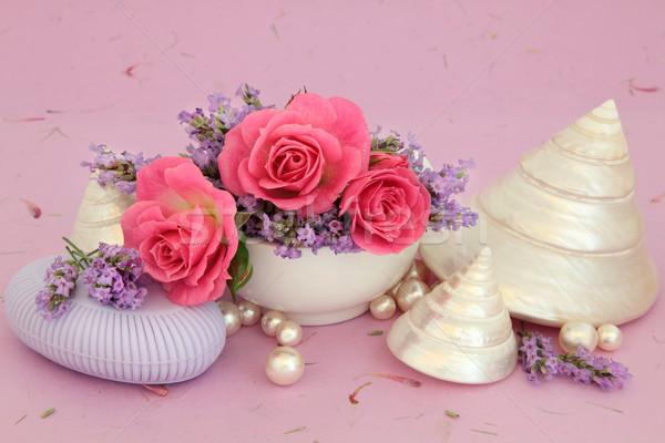 Zuiverheid lavendel steeg bloemen natuurlijke zeep Stockfoto © marilyna