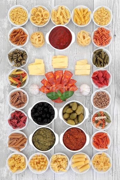 Italian Food Ingredient Sampler Stock photo © marilyna
