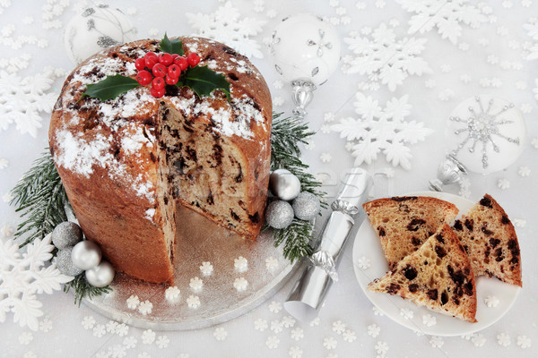 Italian Chocolate Panettone Christmas Cake Stock photo © marilyna