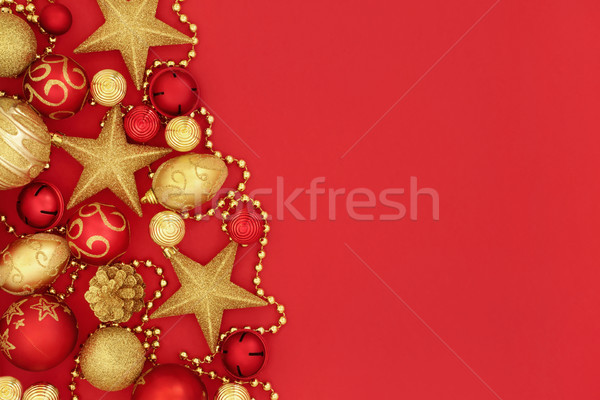 Christmas Bauble Decorations Stock photo © marilyna