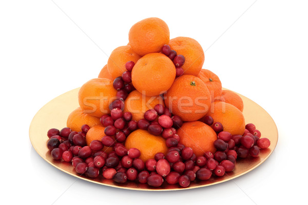 Mandarim fruto natal ouro Foto stock © marilyna