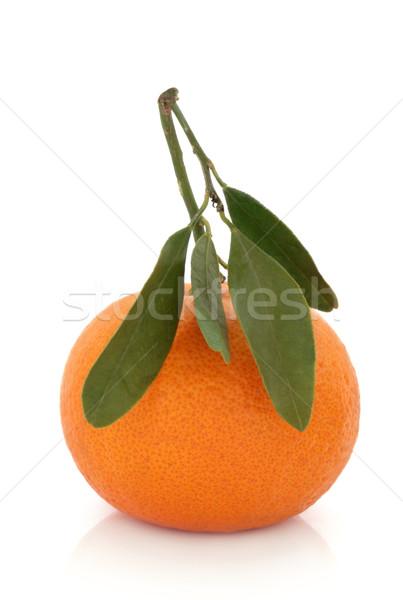 Tangerine Fruit with Leaf Sprig Stock photo © marilyna
