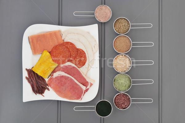 Yüksek protein gıda sağlık ek et Stok fotoğraf © marilyna