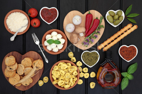 здорового диета продовольствие Средиземное море темно Сток-фото © marilyna