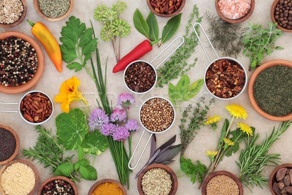Essiccati fresche erbe spezie Spice erbe Foto d'archivio © marilyna