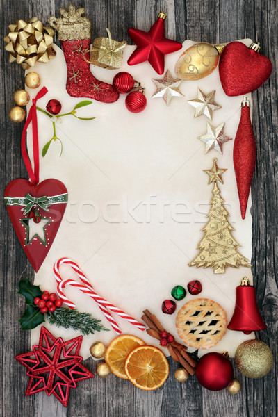 Christmas Decorative Background Border Stock photo © marilyna