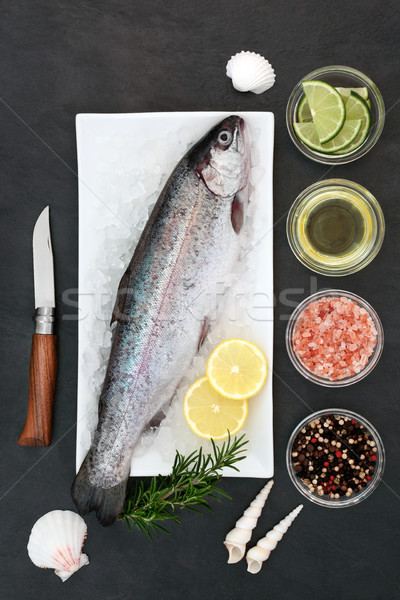 Rainbow Trout on Crushed Ice Stock photo © marilyna