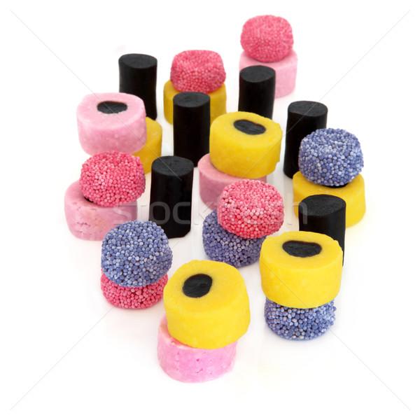 Słodycze lukrecja kolorowy streszczenie projektu odizolowany Zdjęcia stock © marilyna