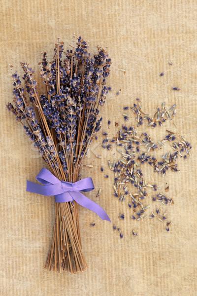 Lavanta çiçek eski ambalaj kâğıdı doğa arka plan Stok fotoğraf © marilyna
