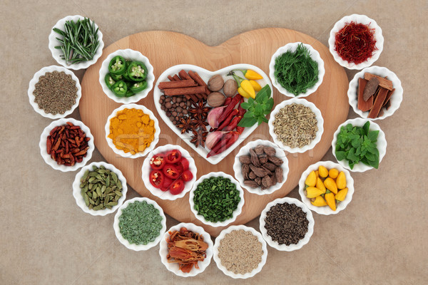 I Love Herbs and Spices Stock photo © marilyna