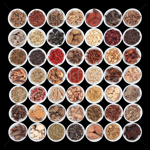Large Chinese Herbal Medicine Collection Stock photo © marilyna