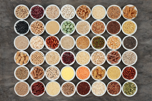 Stock fotó: Egészség · étel · nagy · hüvelyesek · magok · diók