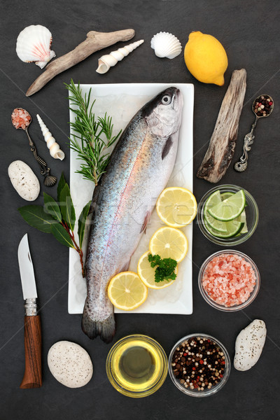 Rainbow Trout Healthy Heart Food Stock photo © marilyna