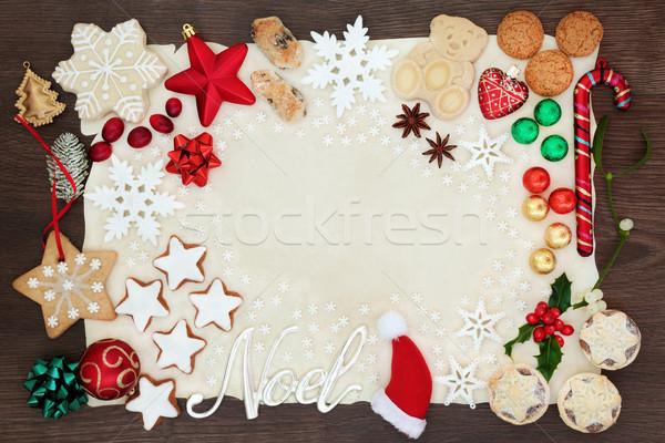 Noel and Christmas Background Border Stock photo © marilyna