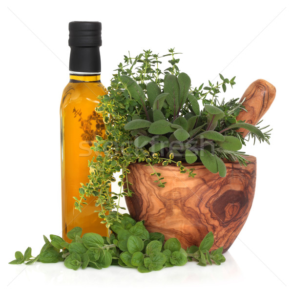 Olive Oil and Herbs Stock photo © marilyna