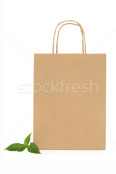 Recycled Paper Carrier Bag Stock photo © marilyna