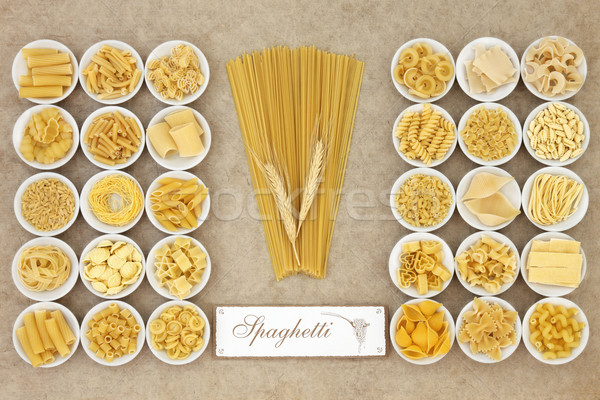 Spaghetti Pasta Sampler Stock photo © marilyna