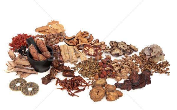 Chińczyk herb składniki używany tradycyjny Zdjęcia stock © marilyna