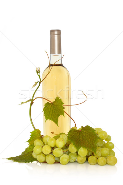 White Wine with Grape Vine Stock photo © marilyna